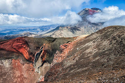 Red Crater And Mt Ngauruhoe Original by Tuan Nguyen