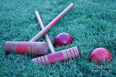 Photograph - Red Croquet by Kerri Mortenson