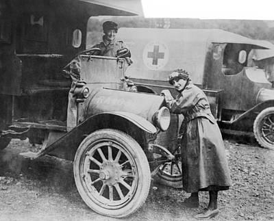 Red Cross Ambulances, World War I Art Print