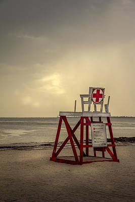 Red Cross Lifeguard Art Print by Marvin Spates