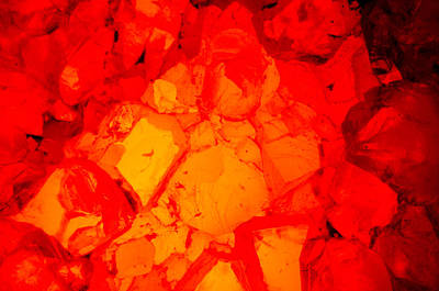 Keith Richards - Red Crystal 1 by Larry Jost