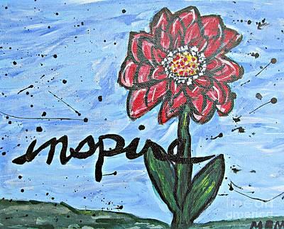 Red Dahlia Inspire Art Print