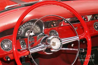 Photograph - Red Dashboard by Valerie Reeves