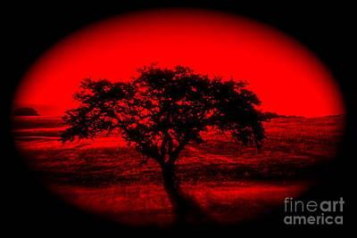 Kiss Breast Nipple Photograph - Red Dawn - No.7328i by Joe Finney