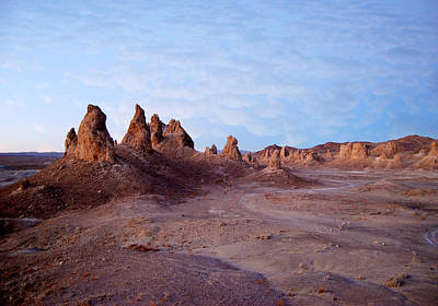 Moon Photograph - Red Dawn   Trona Pinnacles by Gregg Short
