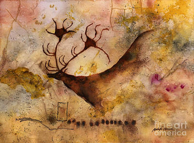 Anthropology Painting - Red Deer by Hailey E Herrera