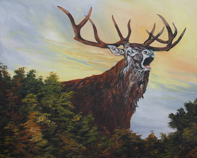 Painting - Red Deer - Stag by Jean Walker