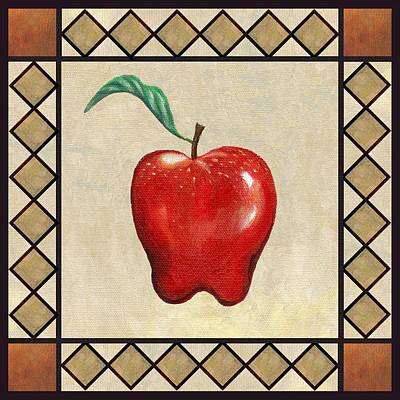 Kitchen Painting - Red Delicious Apple by Linda Mears