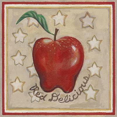 Apple Painting - Red Delicious Two by Linda Mears