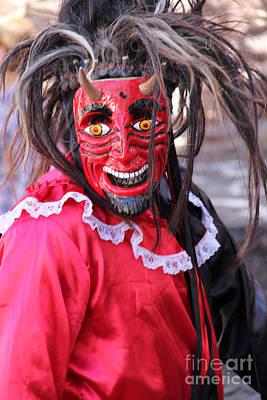 Red Devil At The Santa Prisca Parade Print by Linda Queally