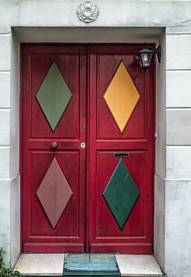 Red Diamond Door Art Print