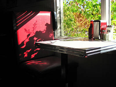Photograph - Red Diner Booth by Mary Lee Dereske