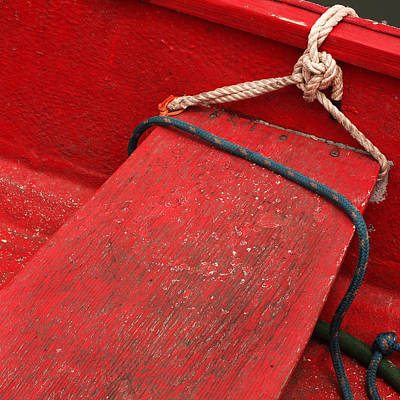 Morro Bay Ca Photograph - Red Dinghy by Art Block Collections