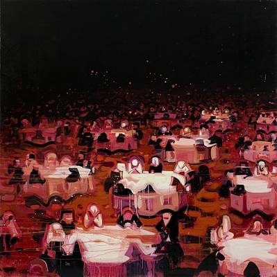 Black Tie Painting - Red Dining Room 9 by Susie Hamilton