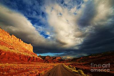 Dirt Road Photograph - Red Dirt Road by Sean  Jungo