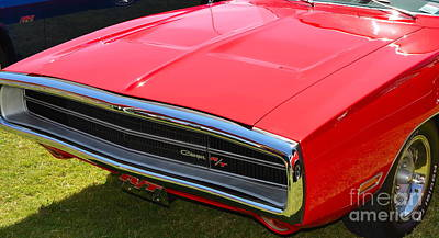 Photograph - red Dodge Charger RT by Mark Spearman