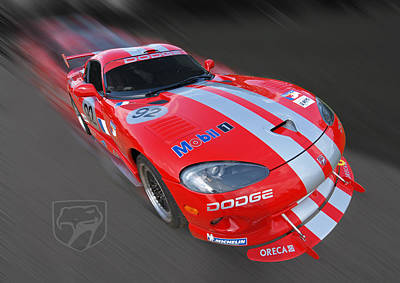 Photograph - Red Dodge Viper by Gill Billington