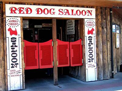 Red Dog Saloon Juneau Art Print