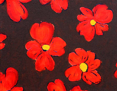 Movies Star Paintings - Red Dogwoods by Maura Satchell