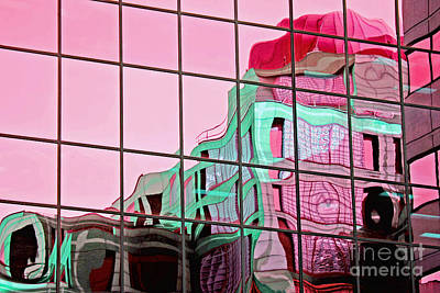 Photograph - Red Dome On Window by Charline Xia