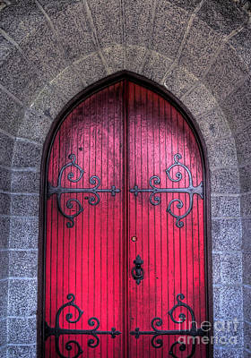 Photograph - Red Door by Alana Ranney