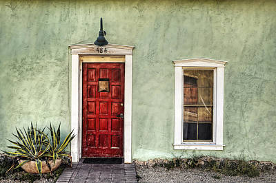 Photograph - Red Door And Window by Ken Smith