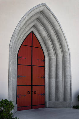 Photograph - Red Door At Our Lady Of The Atonement by Ed Gleichman