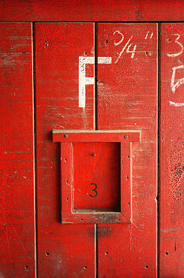 Red Door Art Print by Bobby Villapando