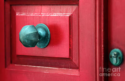 Photograph - Red Door Green Knob by John Rizzuto