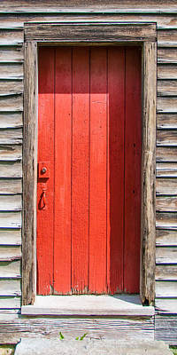 Photograph - Red Door by Guy Whiteley