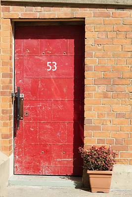 Photograph - Red Door by Linda Lees