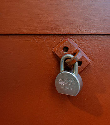 Photograph - Red Door Lock by James Hammond