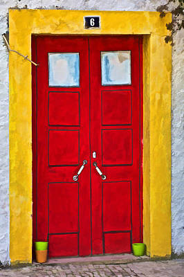 Photograph - Red Door Number Six by David Letts