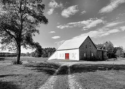 Photograph - Red Door Old Barn by Janice Drew