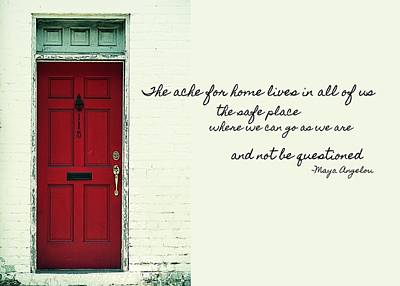 Red Door Quote Art Print