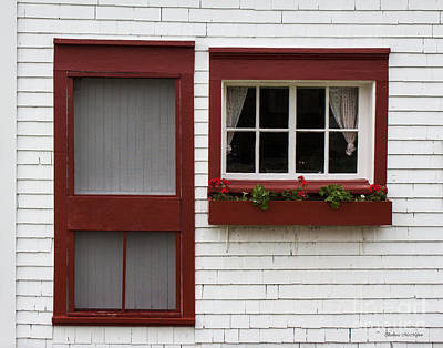 Photograph - Red Door Red Window by Barbara McMahon