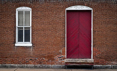 Art Print featuring the photograph Red Door by Wayne Meyer