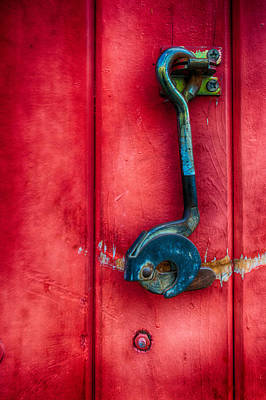 Photograph - Red Door With Hook by James Hammond