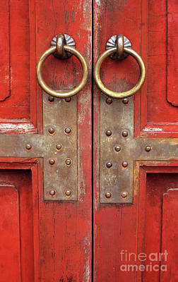 Pull Ring Photograph - Red Doors 02 by Rick Piper Photography