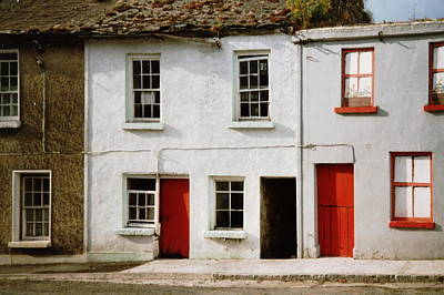Painting - Red Doors Dilapidation by Val Byrne