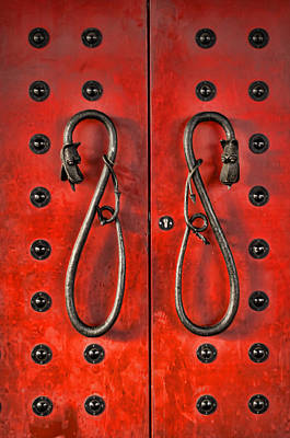 Photograph - Red Doors by Heather Applegate