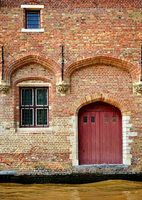 Red Doors In Bruge Original by Matt MacMillan