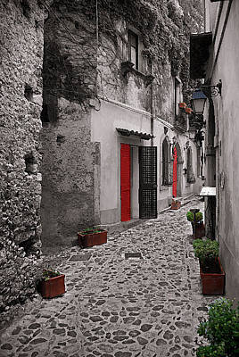 Photograph - Red Doors Italy by Caroline Stella
