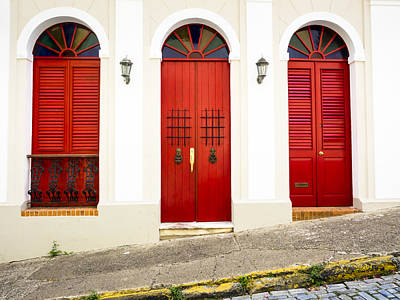 Red Doors Art Print
