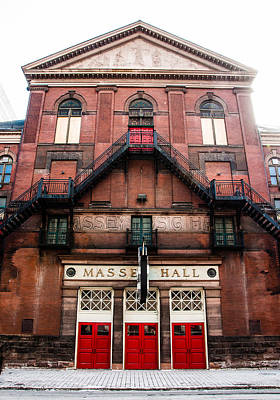 Massey Hall Wall Art - Photograph - Red Doors Of Massey Hall - Front Facade - Colour by Rosemary Legge