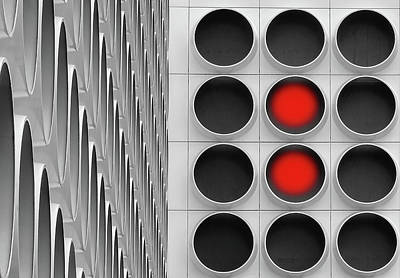 Abstract Lights Photograph - Red Dots by Henk Van Maastricht