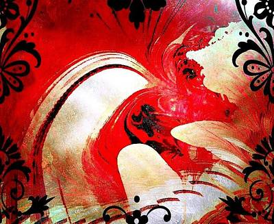 Photograph - Red Dragon Fantasy by Maria Urso