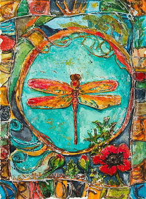 Red Dragonfly Art Print by Patricia Allingham Carlson