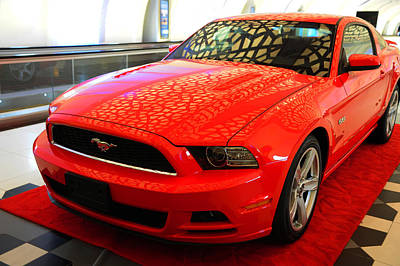 Photograph - Red Dream. Ford Mustang by Jenny Rainbow