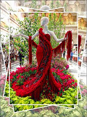 Photograph - Red Dress At Macy's by Alice Gipson